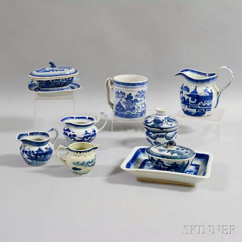 Ten Canton Export Porcelain Table Items