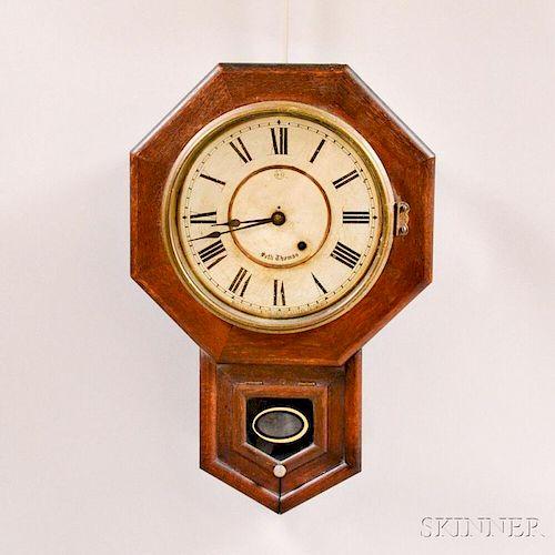 Small Seth Thomas Drop Octagon Wall Clock