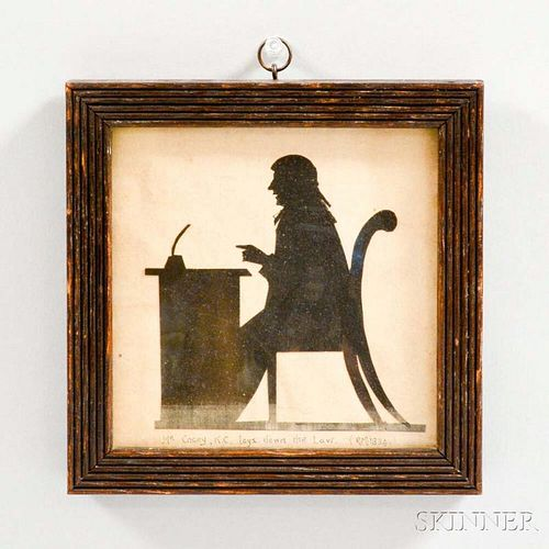Framed Silhouette of a Lawyer