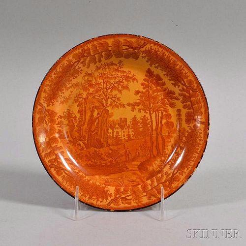 Davenport Rust Transfer-decorated Ceramic Plate