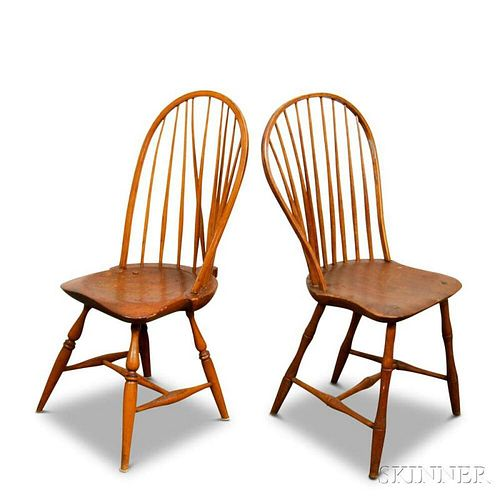 Two Bow-back Windsor Side Chairs
