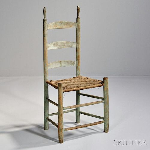 Light Green/Blue-painted Dining Chair