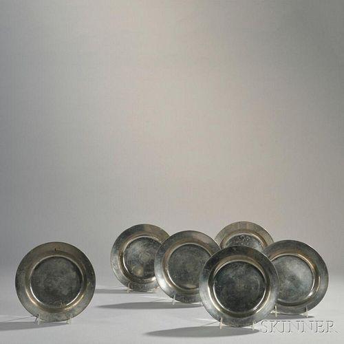 Set of Six Schroeder Pewter Bowls