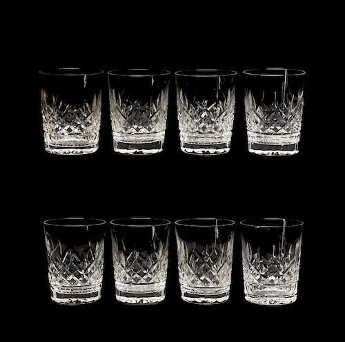 """Set of 8 Waterford """"Lismore"""" Double Old Fashioneds"""