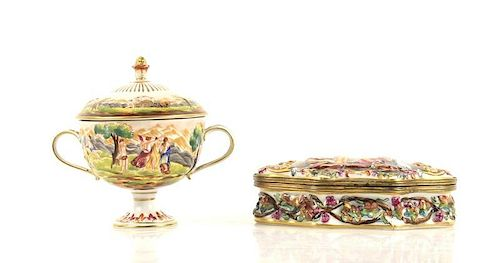 2 Pieces of German Volkstedt Style Porcelain