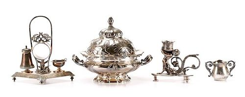 Four American Victorian Silverplate Articles