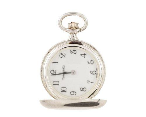 Tiffany & Co. Sterling Silver Cased Pocket Watch
