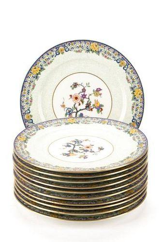 Set of 11 C Ahrenfeldt Limoges Luncheon Plates