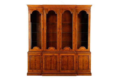 Biedermeier Style Burled Wood China Cabinet