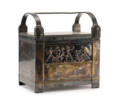 German WMF Silver Plate Figural Jewelry Box