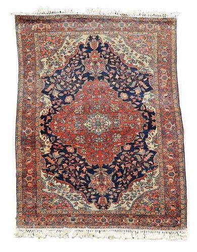 "Hand Woven Persian Tabriz - 2' 7"" X 3' 7""."