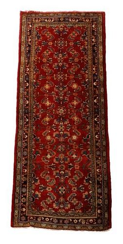 "Hand Woven Persian Mahal Area Rug 3' 8"" x 9' 9"""