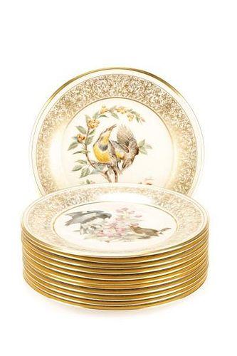 Set of 12 Boehm Ornithological Cabinet Plates
