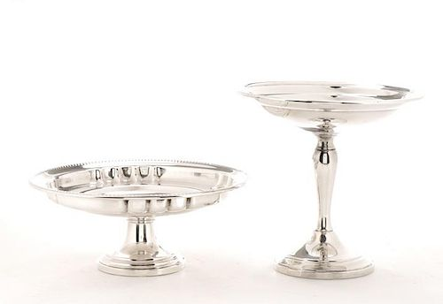 Group of 2 American Sterling Footed Compotes