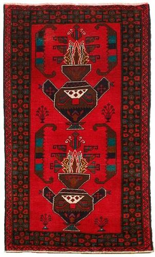 "Hand Woven Baluchi Throw Rug (2' 8"" x 4' 8"")"
