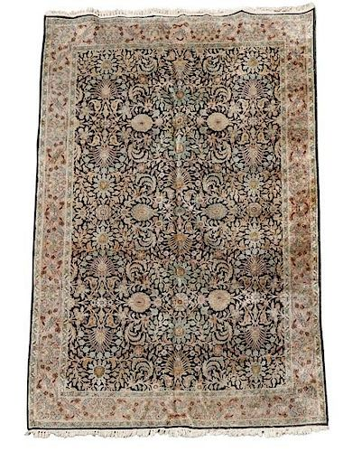 Hand Woven Indian Tabriz Area Rug 6' x 9'