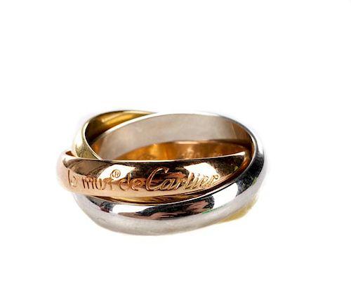 'Les Must de Cartier' Tri-Color Gold Rolling Ring