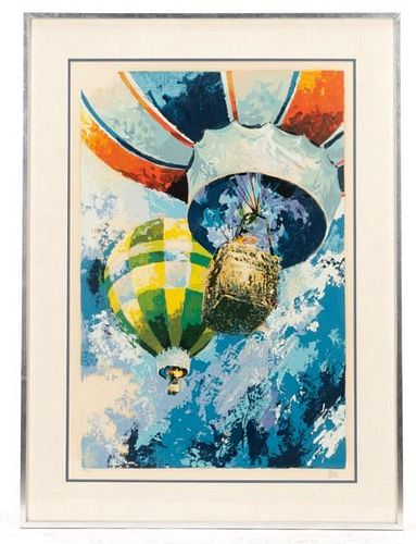 "Wayland Moore, ""Hot Air Balloon"", Serigraph"