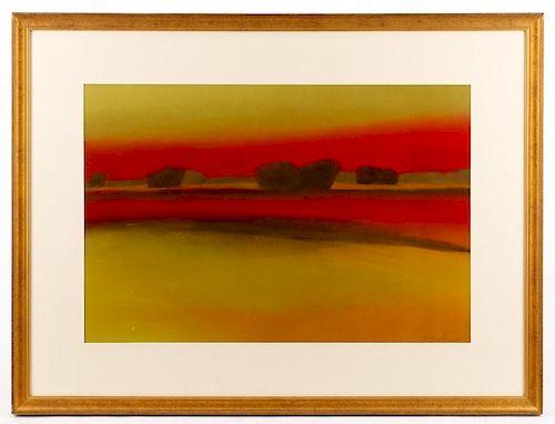 American School Modern Landscape Oil, Bradshaw