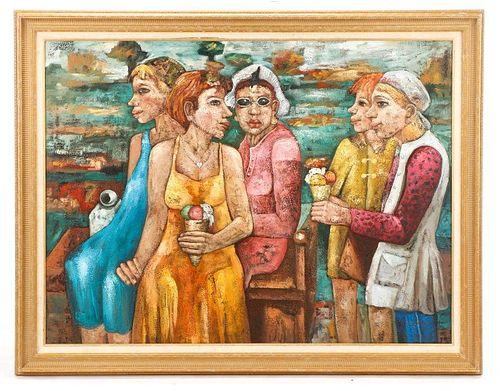 "American School, ""Untitled"", Oil on Canvas"