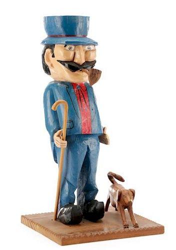 Lewis Lamb, Figural American Folk Art Sculpture