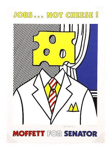 """After Lichtenstein, """"Jobs...Not Cheese!"""", Signed"""