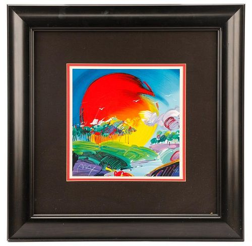 """Peter Max """"Without Borders"""" Limited Ed. Serigraph"""