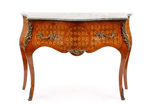 Louis XV-Style Ormolu Mounted Bombe Form Commode