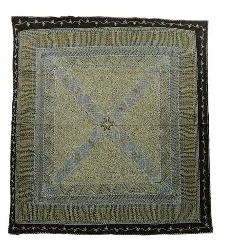"""Hand Woven Chainstich Tapestry - 7' x 7' 9""""."""
