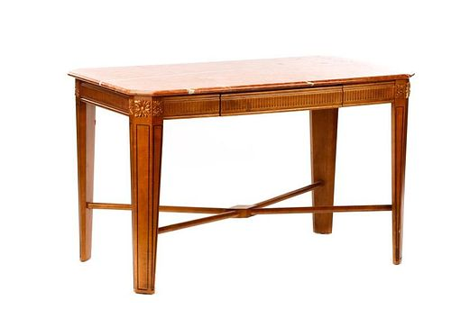 Neoclassical Style Carved Hall or Accent Table