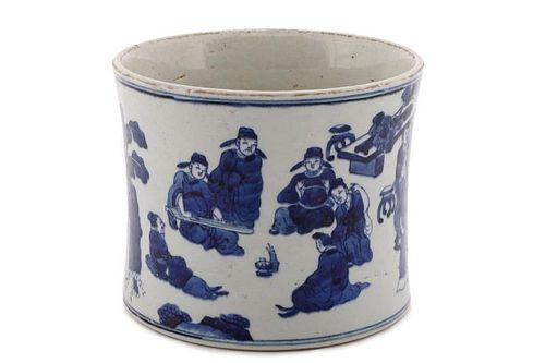 Kangxi Marked Chinese Porcelain Brush Pot