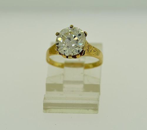 Belle Žpoque 14k yellow gold diamond ring