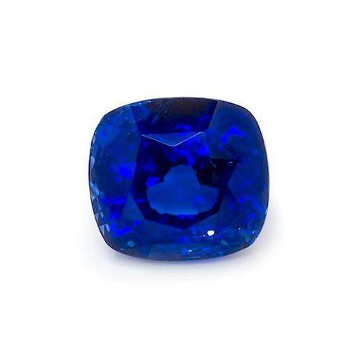 A 3.79 Carat Cushion Cut Sapphire,