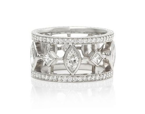 A Platinum and Diamond Eternity Band, Micheal Beaudry, 10.60 dwts.