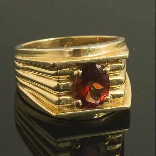 Sunstone 18k Gold RIng