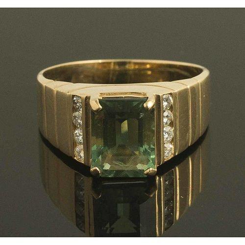 Green Fluorite 14k Gold Ring