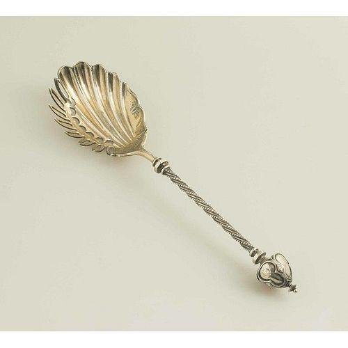 American Silver Macaroni Serving Spoon