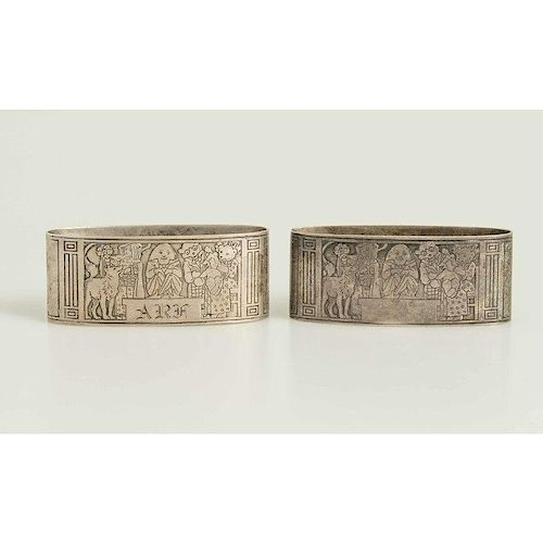 Two Sterling Napkin Rings, 1.9 ozt