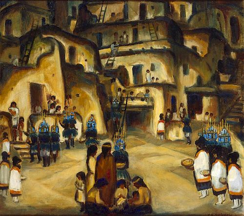 Frank Applegate (1881-1931) Untitled (Indian Village) ca. 1925