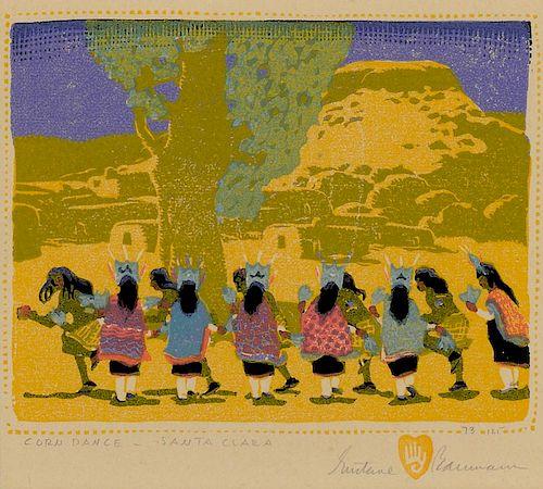 Gustave Baumann (1881-1971) Corn Dance - Santa Clara 1920