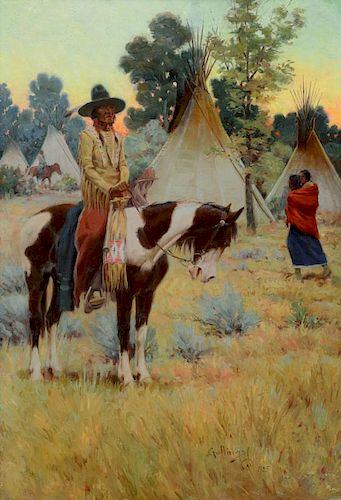 William Gollings (1878-1932) The Camp Crier