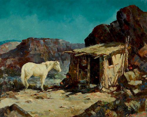 Olaf Wieghorst (1899-1988) The Dugout