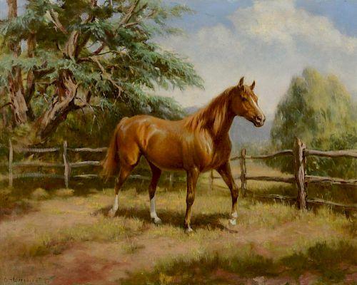 Olaf Wieghorst (1899-1988) Ranch Horse in Corral