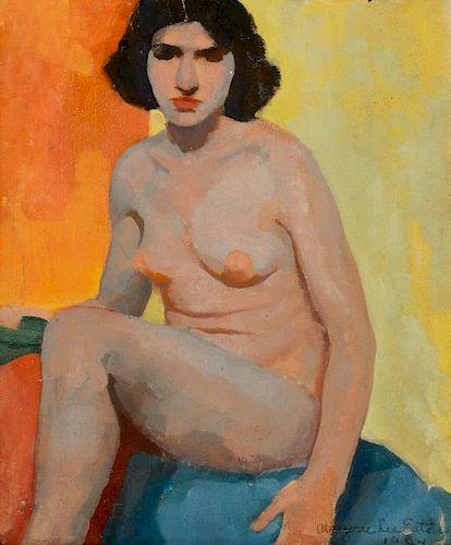 Marjorie Eaton (1901-1986) Nude with Black Border