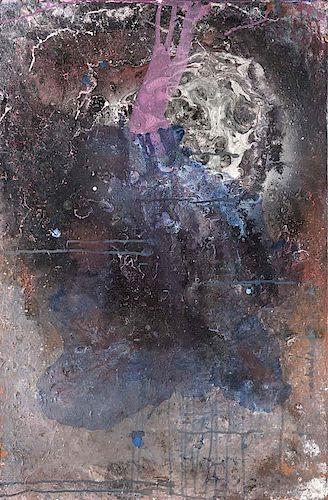 Thieler, Fred o.T. (Um 1967). Mischtechnik auf Lei