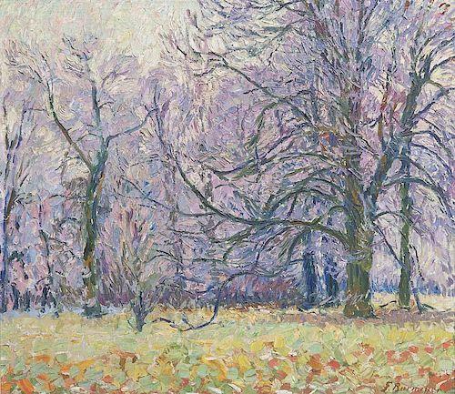 Burmester, Georg Rauhreif n(ach) Nebel. Um 1910. ü