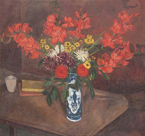 Tappert, Georg Gladiolen. 1943. ül auf Leinwand. 8