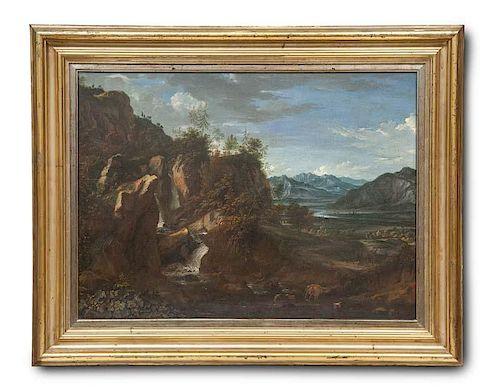 Künstler des 18. Jhd. Landschaft mit Felsformation