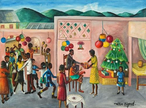 Wilson Bigaud (Haitian, 1931-2010) Christmas Celebration