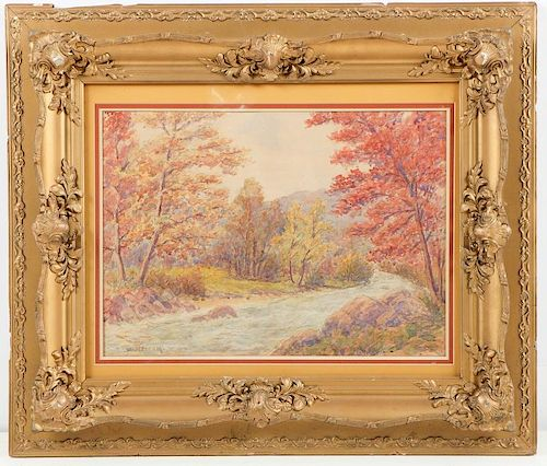 Willard LeRoy Metcalf (1858-1925) Watercolor